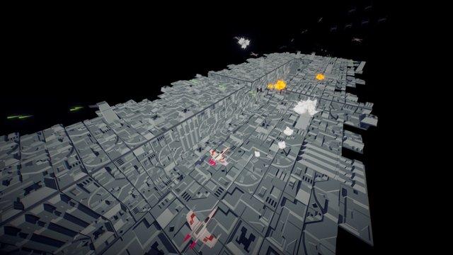 Trench Run 3D Model