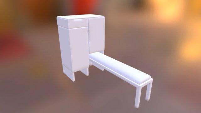 Shoes Cabinet 3D Model