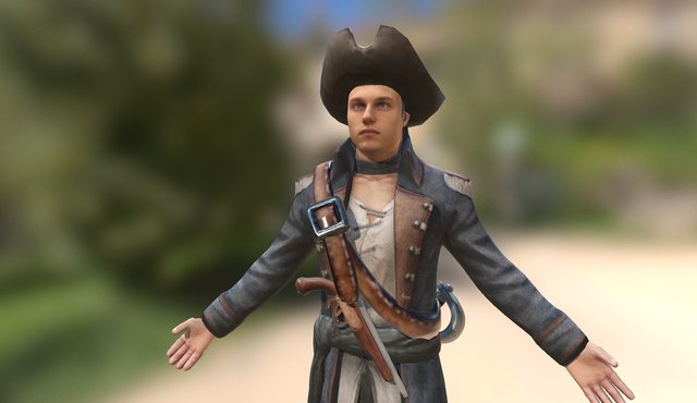 Pirate Kaspar 3D Model