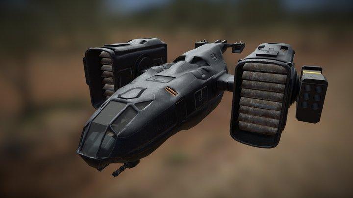 Sci-fi shuttle 3D Model