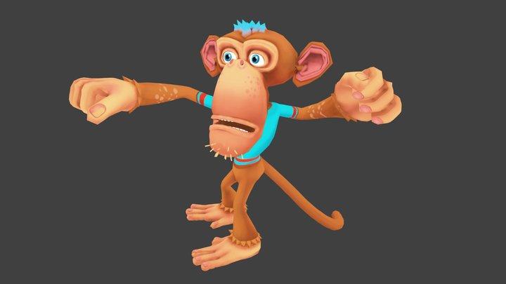 Monkey Lowpoly 3D Model