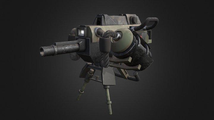 Old machinegun 3D Model