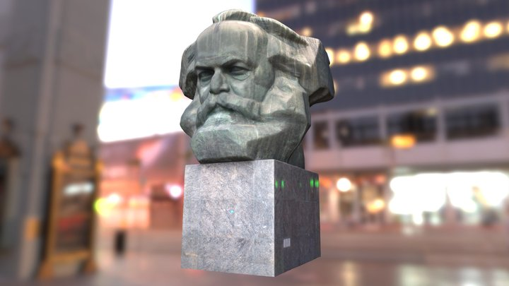 Karl Marx Monument 3D 3D Model