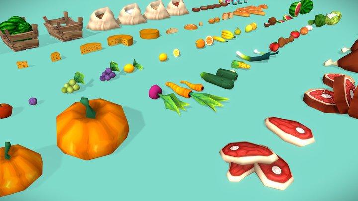 FANTASTIC - Food Pack 3D Model