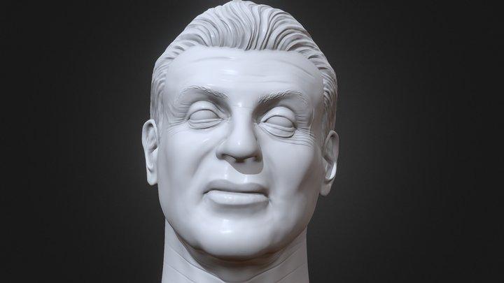 Sylvester Stallone 3D printable portrait 3D Model
