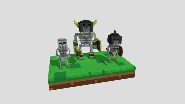Skeleton Army 3D Model