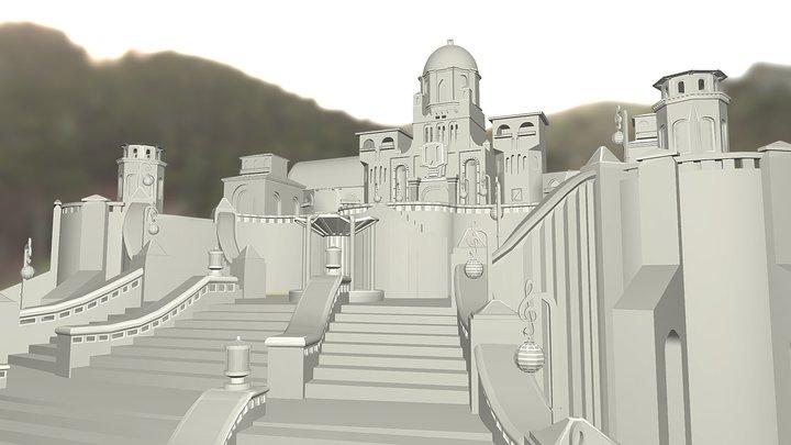 Castle Ernesto De la Cruz (Coco) 3D Model