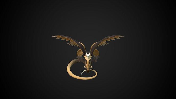 Azuhuotl the Godlike Sphinx 3D Model