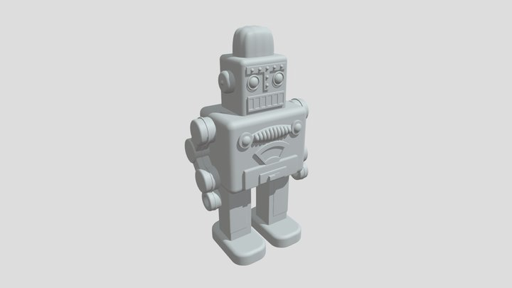 3D Toy Robot - Base Mesh 3D Model