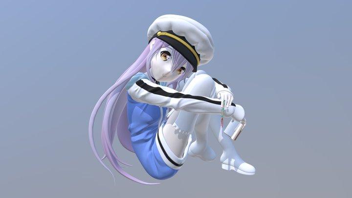 Anime Character - Rinne Ohara (Island) 3D Model