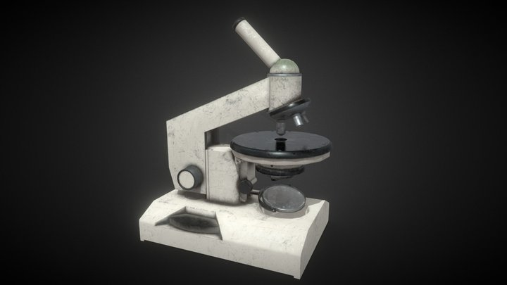 The old Soviet microscope ATOM RPG Props 3D Model