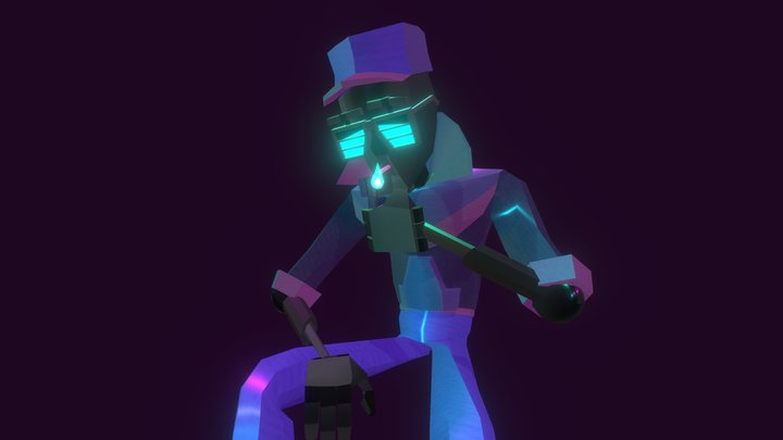 Duane - Neon Demon 3D Model