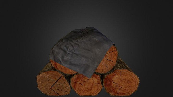 Log Pile 3D Model