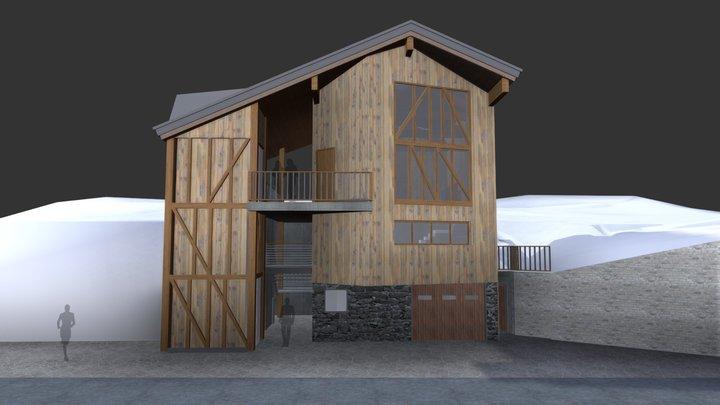 Chalet 2gether per Sciabile - Alta Val Susa 3D Model
