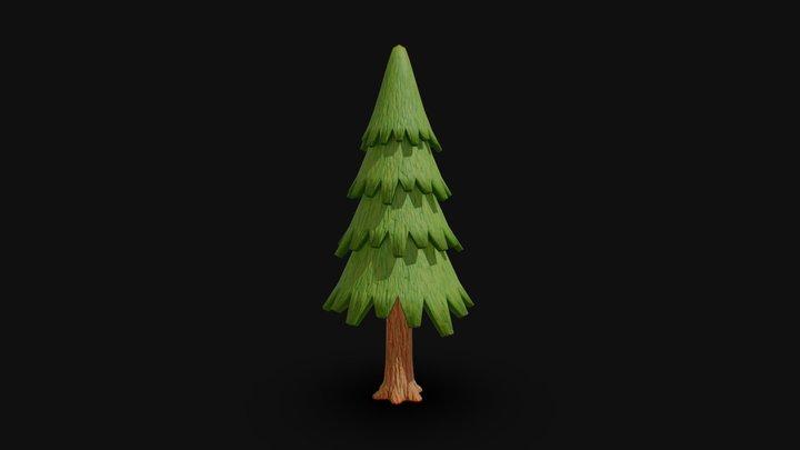 A Tree Of Cedar 3D Model