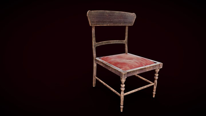 Old Sewing Chair | Game Ready 3D Model