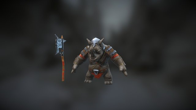Rhino warrior 3D Model