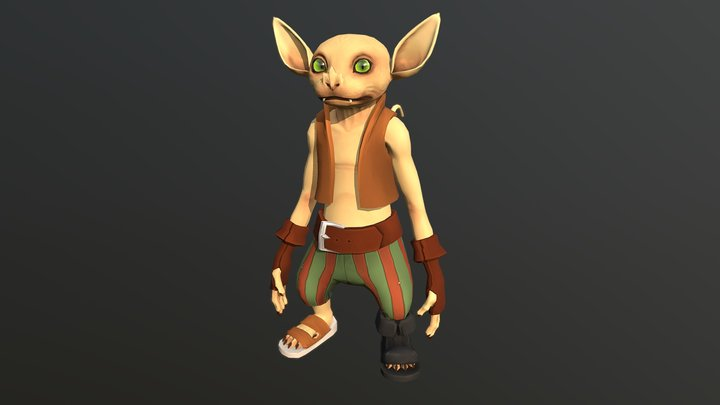 Gerblin - Full Game Animation 3D Model