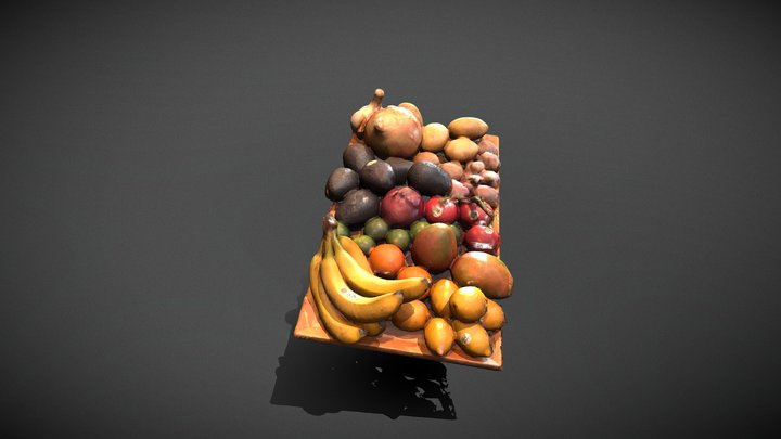 fruit and vegetable bounty 3D Model