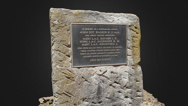 Avro Anson AX420 Memorial, Gunning 3D Model