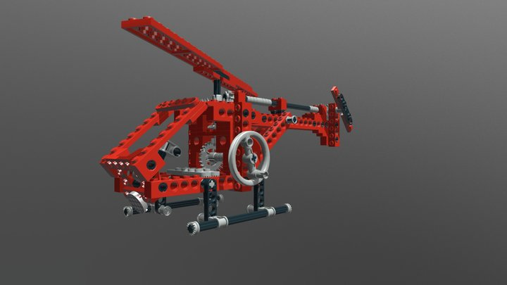 Lego Technic 8032 Universal Set Model D 3D Model