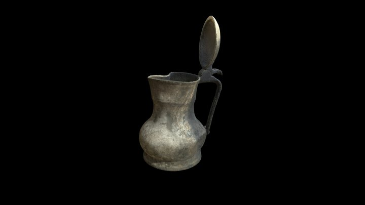 SCW0889: Pewter Flagon 3D Model