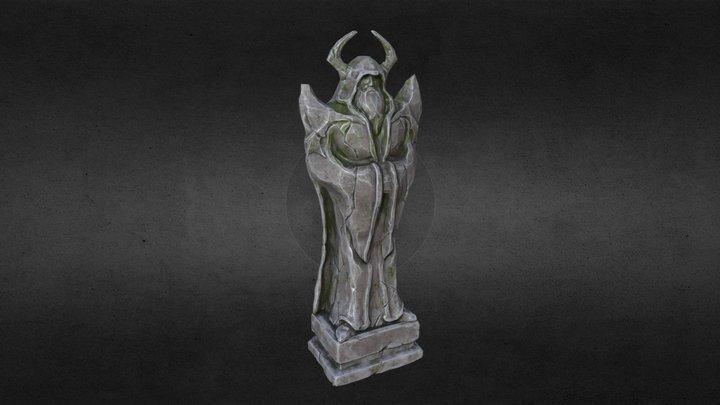 Temple Mage Statue 3D Model