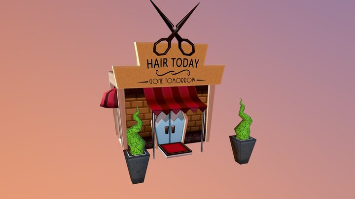 Hair Salon 3D Model