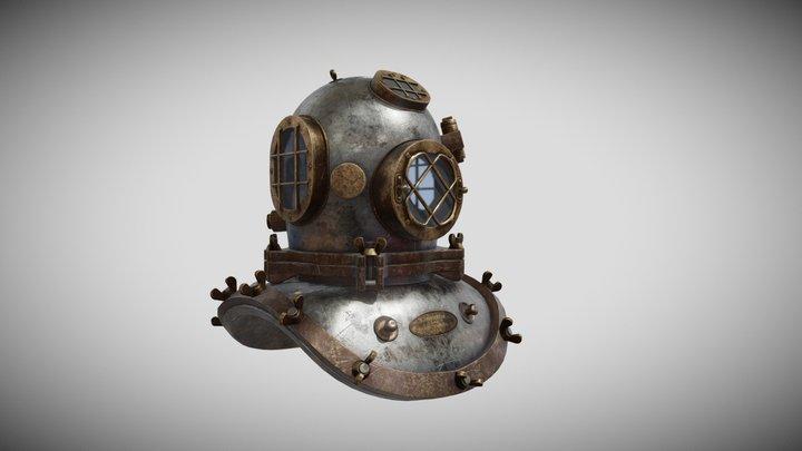 MkI Diving Helmet - 5 Bolt 3D Model