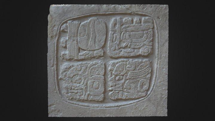 Xunantunich Panel 4, Medallion 1, Fragment A