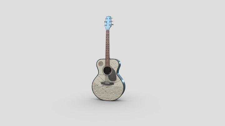 Designer Guitar 3D Model