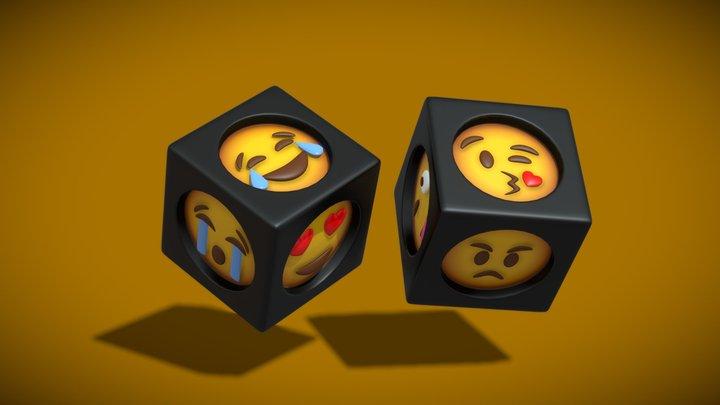 Emoji Dice 3D Model