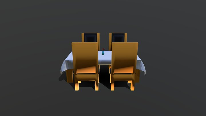 Dining Scene 3D Model