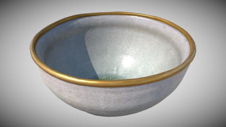 Medieval Shiro Tenmoku style tea bowl (not aged) 3D Model