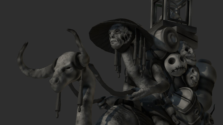 Yvahl the Traveling Merchant #alienchallenge2017 3D Model