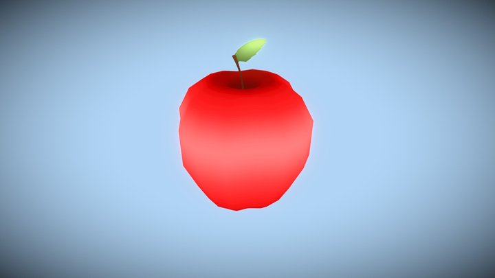 Red Apple (Low Poly) 3D Model