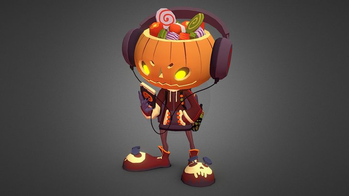 Halloween Delivery Boy 3D Model