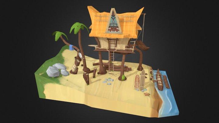 Hawaii_Tiki_Boatbuilder_House 3D Model
