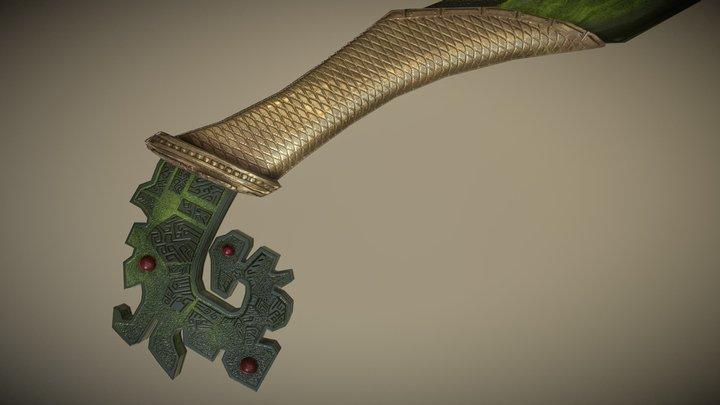 Mystical Weapon : Jade Dagger 3D Model