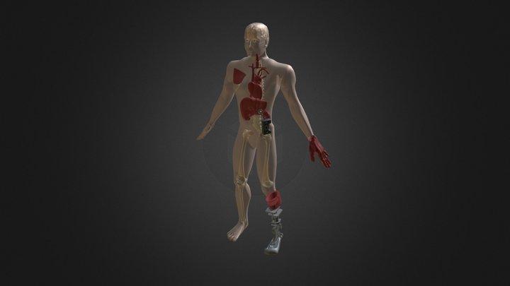 Miehenkroppa Varaosia 3D Model
