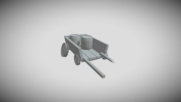 Драфт телеги 3D Model