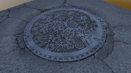 Nagayo Manhole 3D(Nagasaki-Pref.) 3D Model