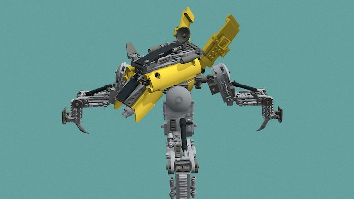 Mechanical Spider Preview 3D Model