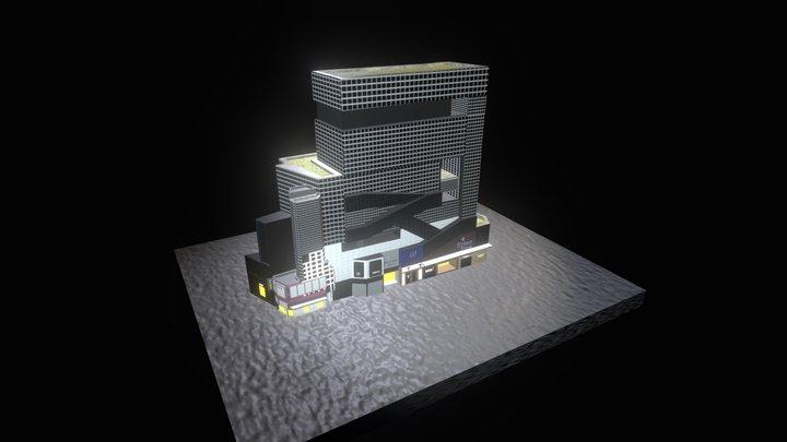 Hong Kong City  - Causeway Bay Hysan Place 3D Model