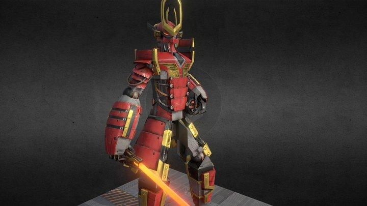 Samurai Mech 3D Model