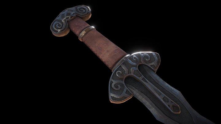 Fantastical Norse Sword 3D Model