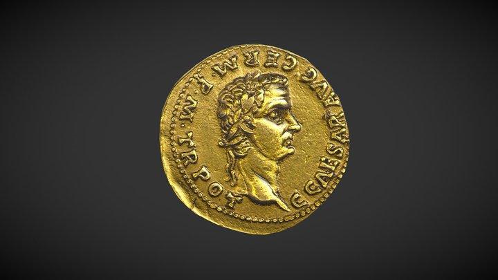 Aureus de Caligula 3D Model