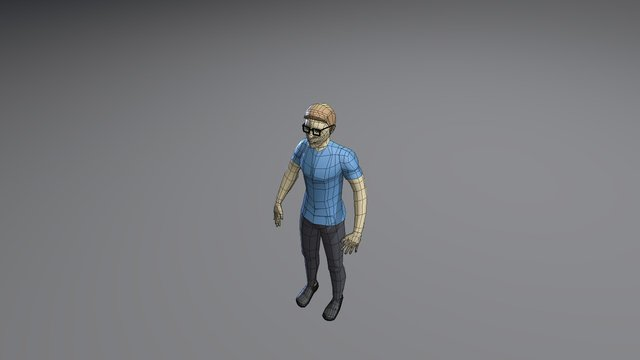 Humano LowPoly 3D Model