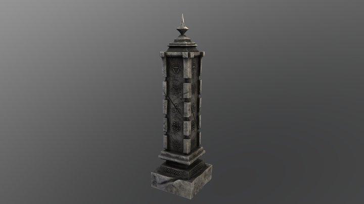 Stone Celtic Structure 3D Model