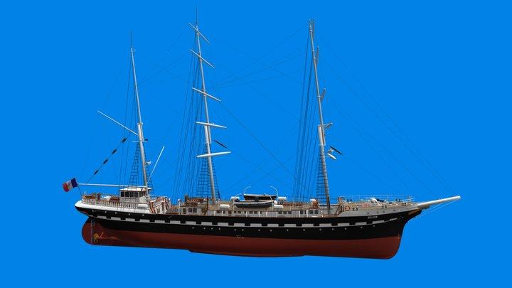 Le voilier 3 mâts Belem - Nantes 3D Model